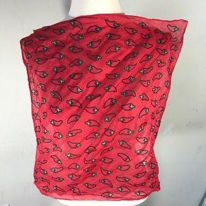 Vintage Accessories - Chilly Pepper Handkerchief Bandana Neck Scarf